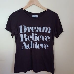 Sincerely Jules Dream, Believe, Achieve Black Tee